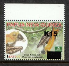 PNG 2014 OVERPRINTS  BATS K15 ON  85T  LARGE BLOCK  MNH
