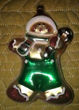 "🎄Candy Canes Old World Christmas Gingerbread Boy Glass Blown Ornament 5"" ��"