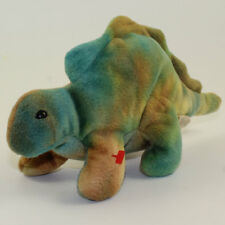 TY Beanie Baby - STEG the Dinosaur (No Hang Tag - 1st Gen Tush Tag)