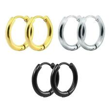 Men Women Stainless Steel Small Hoop Earrings Cartilage Lip Piercing Nose Hoop