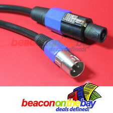 1M 1 Meter Australian Made Speaker Adapter Cable Speakon to XLR Male S108