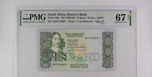 South Africa 10 Rand 1990/1993 P 120 e Superb Gem UNC PMG 67 EPQ