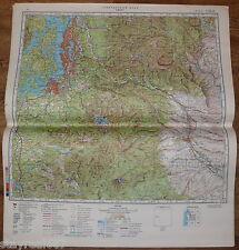 Authentic Soviet USSR Military Topographic Map Seattle, Washington, USA #73