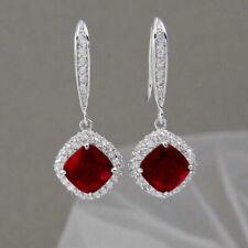 Elegant 925 Silver Drop Earrings for Women White Sapphire Jewelry A Pair/set