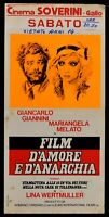Plakat Film D'Amore E D'Anarchy Giannini Mack Wertmüller Ryan N78