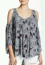 NWT FREE PEOPLE Chloe Cold Shoulder Top Blouse Oversized Size XS