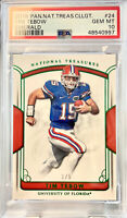2018 Panini National Treasures Collegiate 1/5 Tim Tebow #24 PSA 10, POP 1