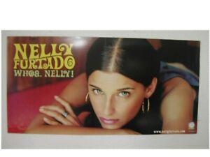 Nelly Furtado 2 sided poster Whoa Nelly Promo