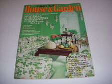 Vintage HOUSE & GARDEN, July, 1973, 70'S DECORATING, WINE & FOOD, SOUFFLES!
