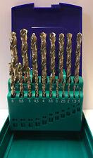 Heller 19 Pieza Hss-G Super Giro Metal Drill Bit Set 1mm - 10mm Tierra-Alemán