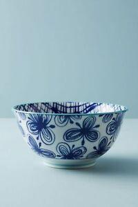 NWT Anthropologie Marta Pasta Bowl- Blue or Yellow