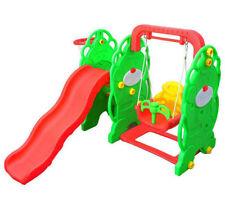 Kids Outdoor Garden Playground 3in1 Swing Chair Slide Children Hoop Play Toy
