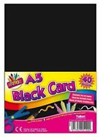 A5 BLACK ACTIVITY CARD 40 SHEETS ART PAPER CRAFT OFFICE COLLAGE USE 250gms
