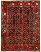 Red 10' x 13' Tabriz Rug Hand Knotted Persian Rug