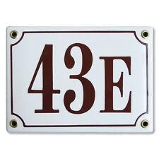 Numéro de rue 12x17cm plaque emaillée personnalisée panneau enseigne adresse
