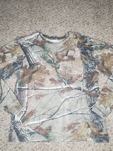Game Winner Men's Small Hunting Shirt Camouflage Realtree Cotton Long Sleeve
