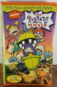 The Rugrats Movie (1998) VHS Clamshell with Orange Cassette Tape