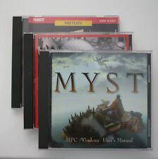 Vintage PC Three CD Game Lot - Myst - Jack Nicklaus Golf 4 - Oregon Trail II