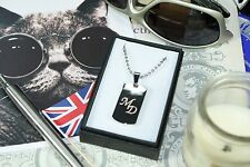 Personalised Engraved Name Text Army Identity Dog Tag Necklace Pendant ID