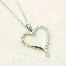 Diamond Heart Necklace SOLID 14K gold ~SIGNED~ 18 inches