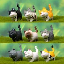 Cute Playing Cat Figurine Miniature Kitten Fairy Garden Statue Craft Home Decor.