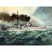 Graf German Navy SM Baden Battleship 1900 Huge Wall Art Poster Print