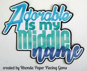 ADORABLE BOY paper piecing title Premade Scrapbook Pages die cut by Rhonda