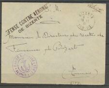 1933, linéaire DEFENSE CONTRE AERONEFS/DE BIZERTE + Cachet Ancre X1197
