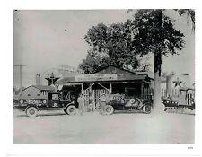 Vintage B&W  Publicity Photo Horace Martin Texaco Filling Station  Circa 1930s