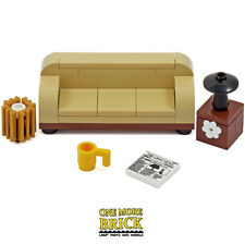 LEGO Sofa Furniture Living Room/Lounge -  lamp table, bin, newspaper & mug NEW