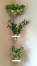 3 Tier Wood Frosted Mason Jar Rope Hanging Herb, Cactus Indoor Outdoor Planter