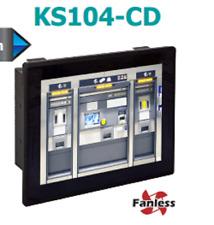 "KS104-CD2800P:CD951-C,Fan-less 10.4"" Panel PC, Intel® Atom N2800,Aluminum Front"