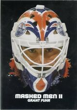 09/10 BETWEEN THE PIPES MASKED MEN II MASK SILVER #MM-23 GRANT FUHR OILERS 44358