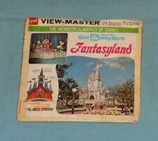 vintage WALT DISNEY WORLD -- FANTASYLAND VIEW-MASTER REELS packet (damaged)