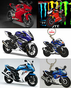 DUCATI & YAMAHA & SUZUKI MOTORBIKE KEY RING KEY CHAIN ACCESSORY