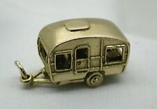 Very Heavy Superb Large Solid 9ct Gold Opening Caravan Charm