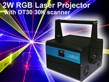2000mW RGB Full Color ILDA DMX DJ Party stage Laser projector 2W light  DT30 30K