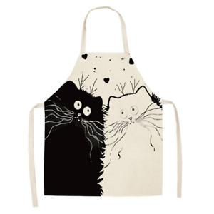 Tablier - Chats [dessin] - Lin / coton - 53 cm x 65 cm - Neuf !!!