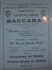 BACCARAT 1916 vari di toilette Catalogo livrecristalleries 49 PAGINE PDF