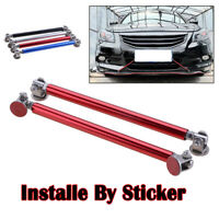 Universal Adjustable Red Bumper Lip Splitter Strut Rod Tie Support Bar 20CM
