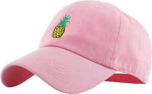 Pineapple Embroidery Dad Hat Baseball Cap Unconstructed