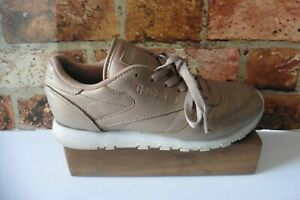 REEBOK CLASSIC ROSE GOLD LEATHER TRAINERS SIZE UK 6