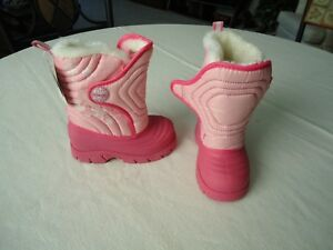 REDUCED STRIDERITE Girls FLURRY Pink Boot Sz 8 THERMOLITE Cold Weather Rated10*F