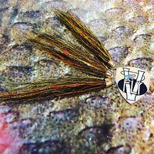 3 V Fly 1.5 Inch Super Gold Willie Gunn Cone-Head Salmon Tube Flies & Trebles