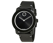 MOVADO TR-90 44mm Swiss Quartz Black Dial White Accents & Hands Watch 3600385