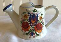 Reutter Porzellan Vintage Decorative Watering Can Folk Art Floral 15136