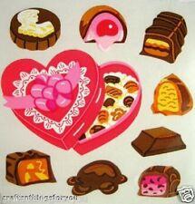 Sandylion VALENTINE HEARTS CHOCOLATES Scrapbooking Stickers G103