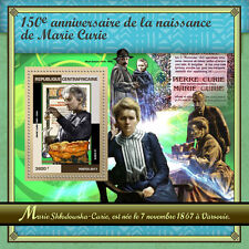 Central African Rep 2017 MNH Marie Curie 150th Birth Anniv 1v S/S Science Stamps