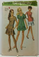 8780 Simplicity Sewing Pattern Size 14 Bust 36 Misses Two Piece Dress 1970