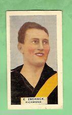 1930 VICTORIAN FOOTBALLERS CARD - HOADLEYS CHOCOLATE  #6  E. ZSCHECK , RICHMOND